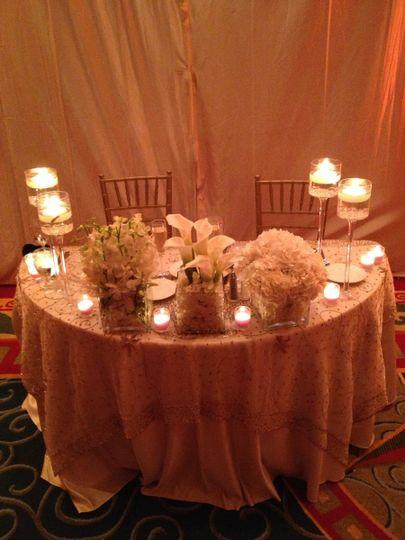 melissa wedding sweetheart table