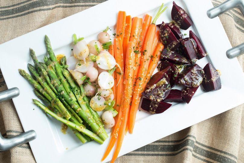 Seasonal Vegetable Platter with Hazelnut Aillade. A guest favorite!