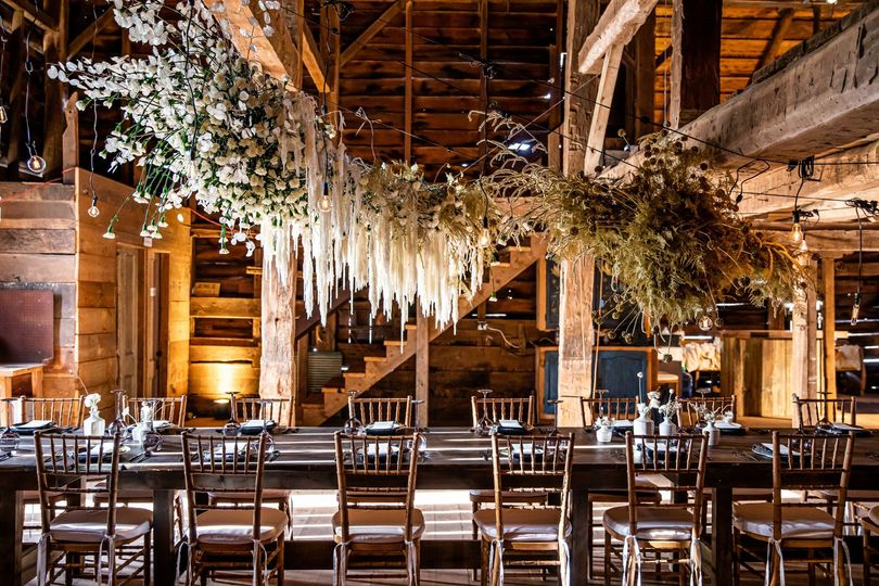 Seated Dinner in Barn