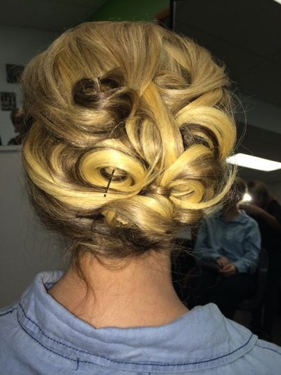 Pinned up curls