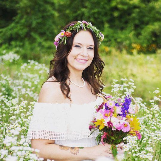 Photo in a flower field