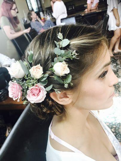 Flower hair decor