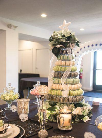 Amazing macaron tower for wedding reception