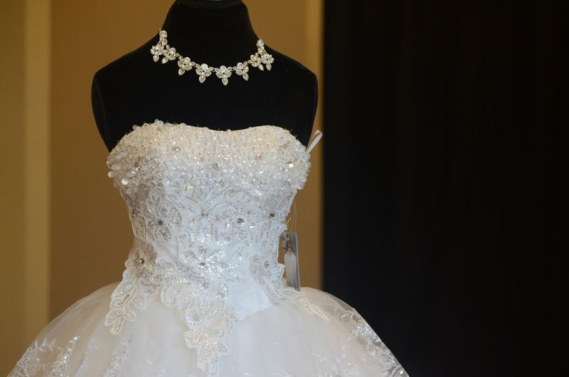Necklace and wedding gown