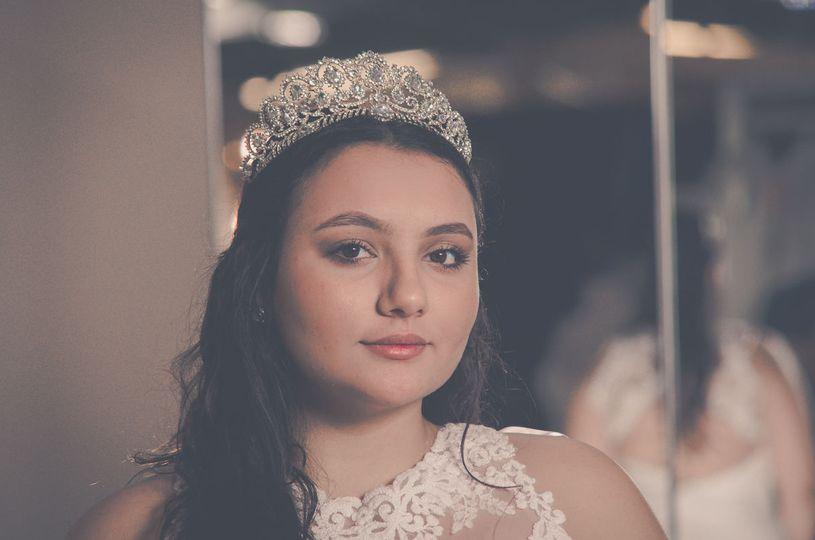 Bride in a crown