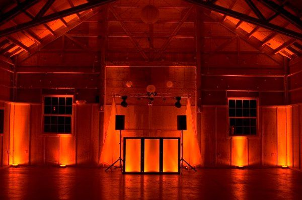 Gold wedding Package with uplighting.