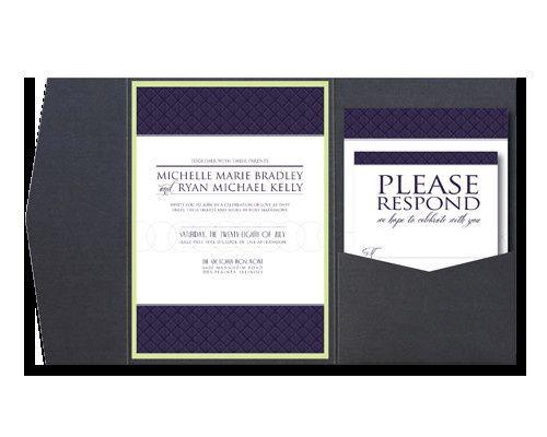 A simple, modern wedding invitation that helps define the tone for the evening.  www.kellyreif.com