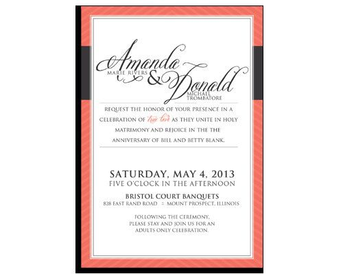 A slight twist on the classic wedding invitation  www.kellyreif.com