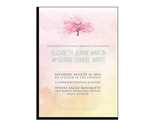 The elegant watercolors make this invitation the perfect way to announce the details of your...