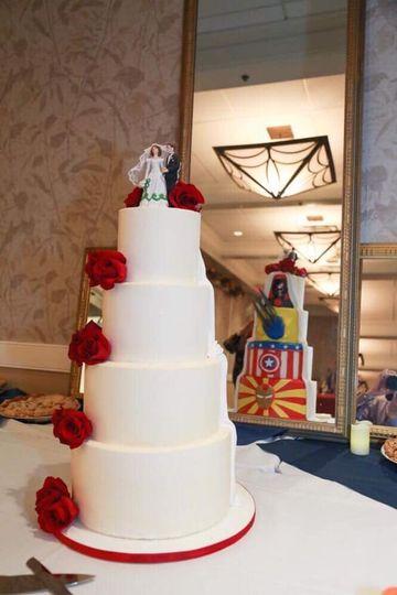 Superhero peekaboo wedding