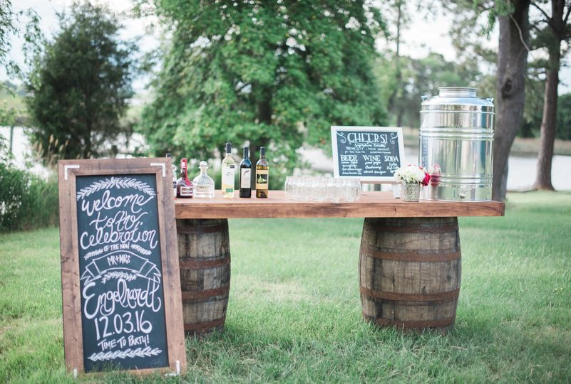 Sample bar setup | Photo: Brittney Livingston Photography