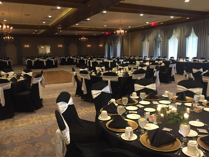 Sophisticated black and white chair covers