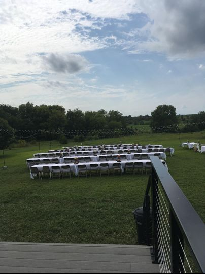 Reception off the deck