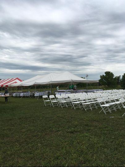 Lawn ceremony & reception