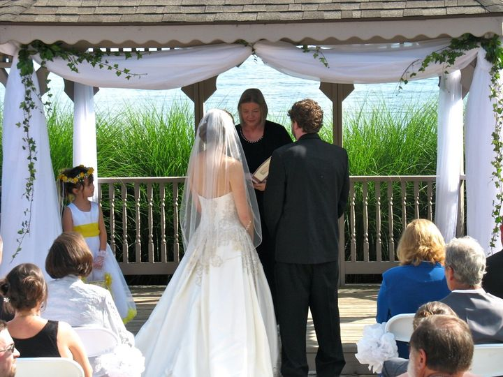 A summer wedding at the Wyndom's Rumbling Bald Resort in Lake Lure, NC