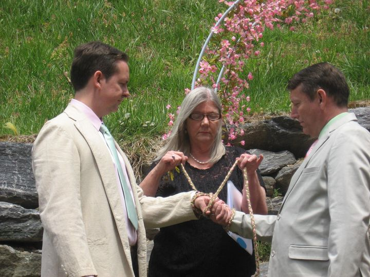 Tmx 1462407796715 Wed Hand Tie Charlesdavid Asheville, NC wedding officiant