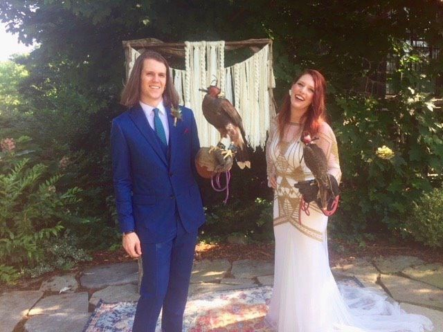 Tmx Couple With Hawks June 2018 51 187419 1572797225 Asheville, NC wedding officiant
