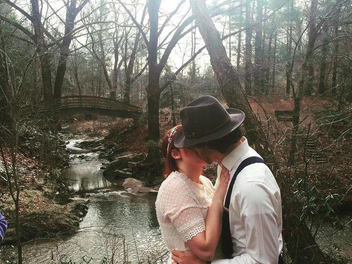 Tmx The Kiss Botanical Garden Winter Weddnig 51 187419 1572797522 Asheville, NC wedding officiant