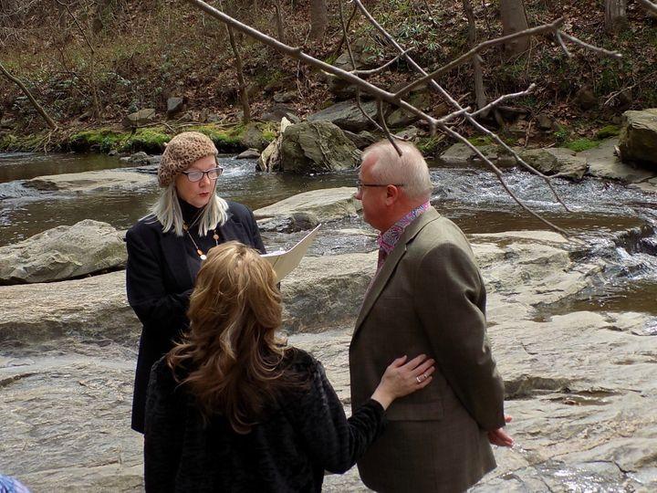Tmx Winter Wed Botanical Garden Stream 51 187419 1572797480 Asheville, NC wedding officiant