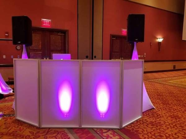 Subtle DJ booth