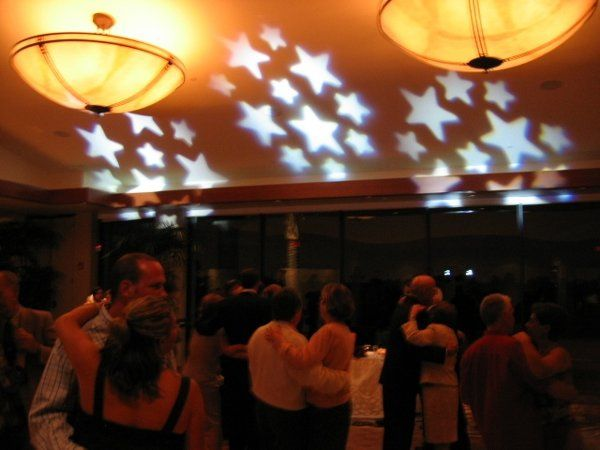 Sample of Free Lighting with all Wedding Packages. Your guests can dance under the stars.