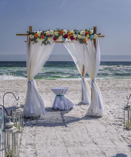 Outdoor beach ceremony