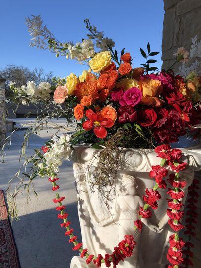 Colorful shiraz garden wedding