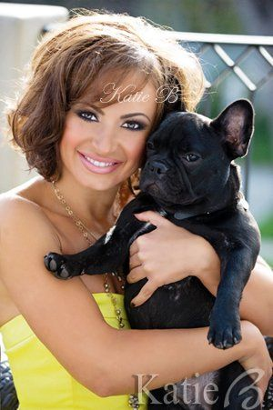Makeup & Hair by Katie B on Dancing with the Star's Karina Smirnoff using all Katie B Cosmetics