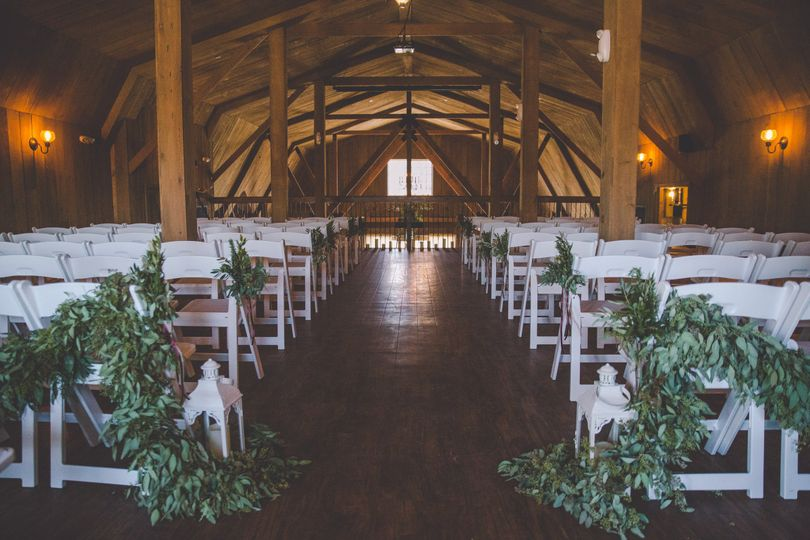 Hayloft Wedding reception