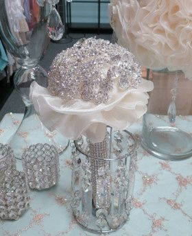Tmx 1377292704094 Rhinestone Bridal Bouquet Santa Fe Springs wedding rental