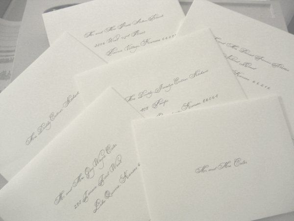 This couple wanted a formal touch to their classy invitation. Notice they included the guest's...