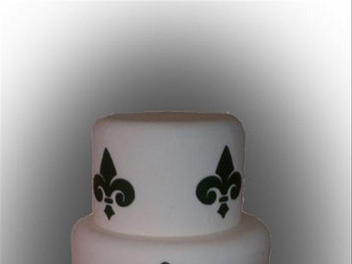 Tmx 1296592368138 Monogram3 Joplin wedding cake