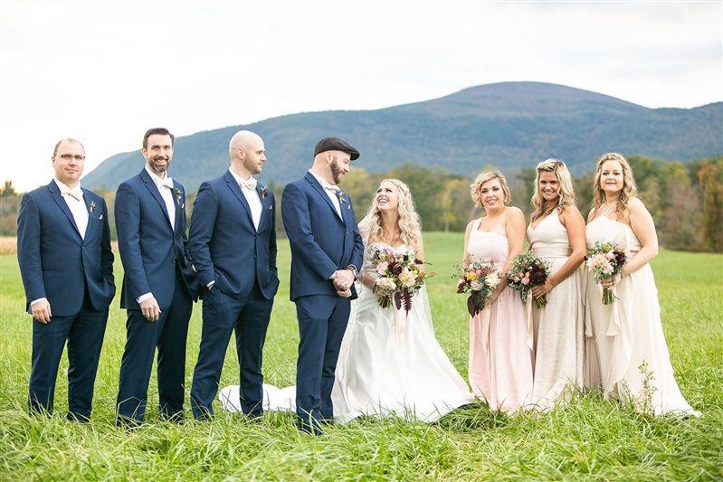 Wedding party in Berkshires