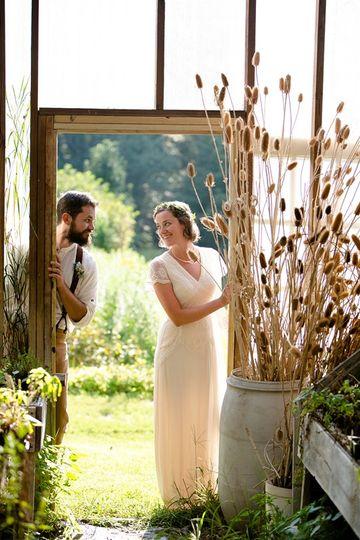 Horticultural bridal session