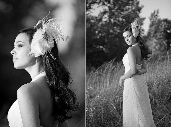 Bridal fascinator and birdcage veil set by Ellen Marie