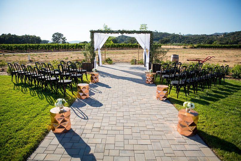 Ceremony with a veiw