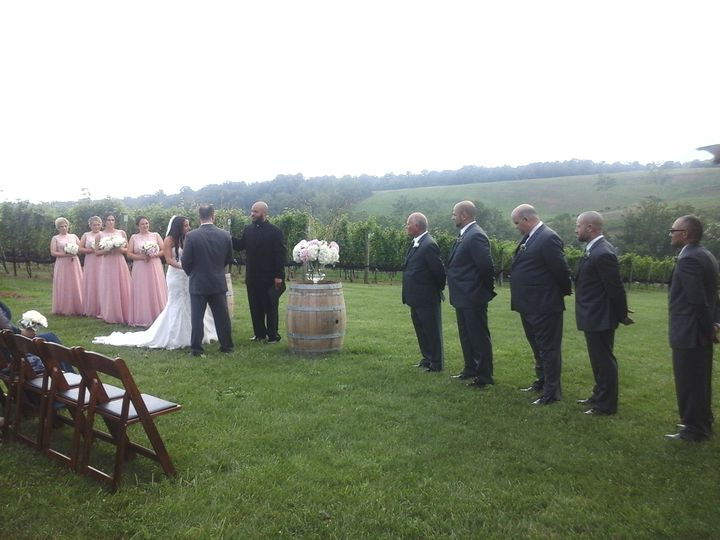 Wedding at Stone Tower Winery