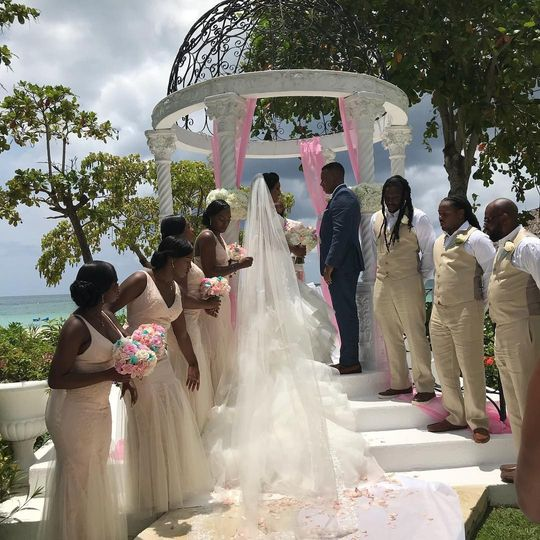 Destination wedding at Sandals