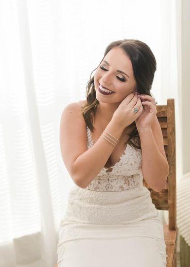 Bride's something blue