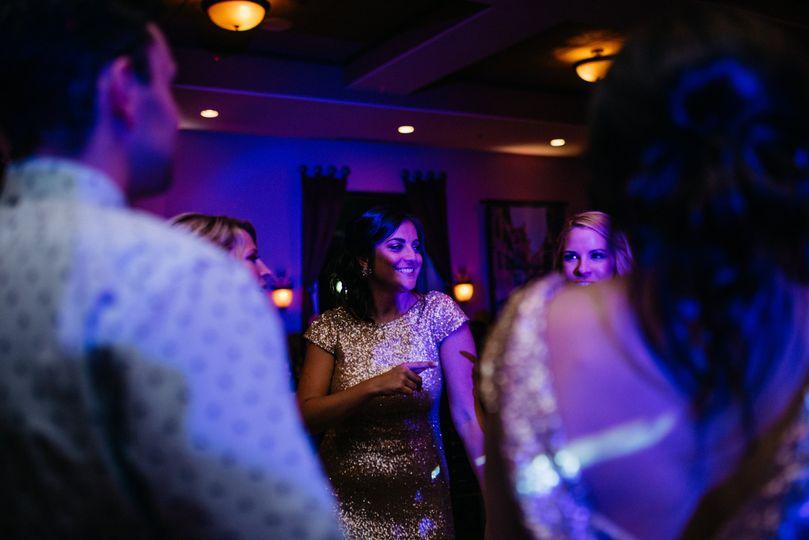 Reception dancing begins