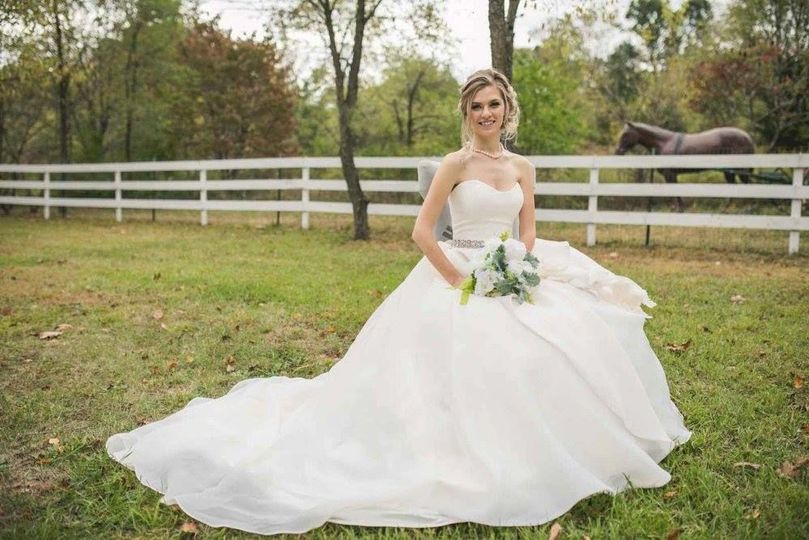 Outdoor themed bridal shoot