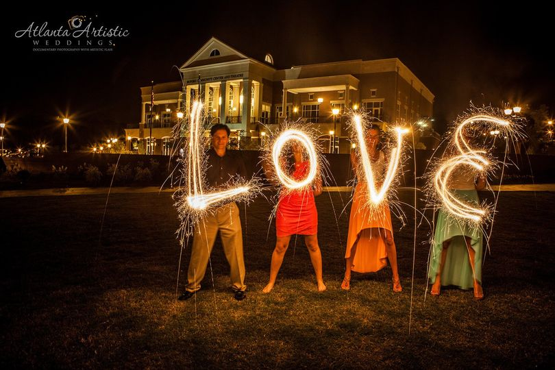 wedding photographers in atlanta sparklers photogr