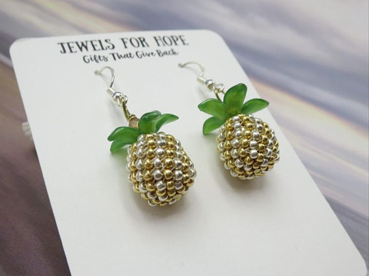 Tmx Jewels For Hope Pineapple Earrings 51 566519 Stamford, CT wedding jewelry