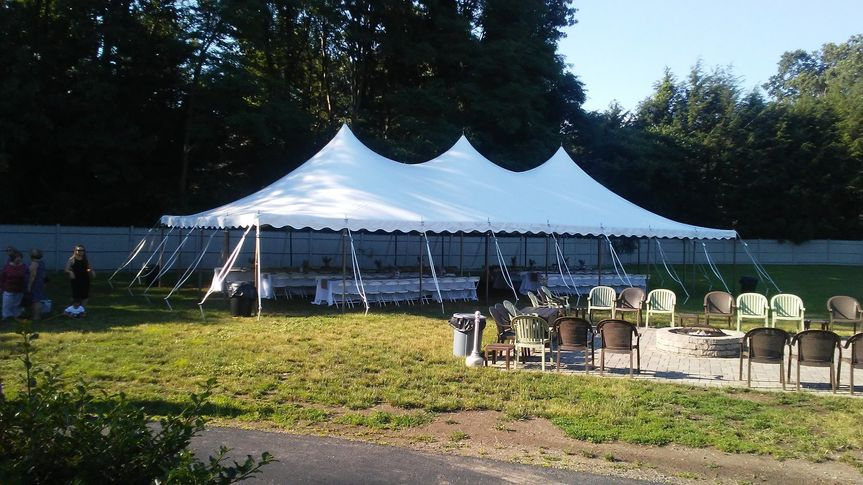 Optional tent 93-120 guests
