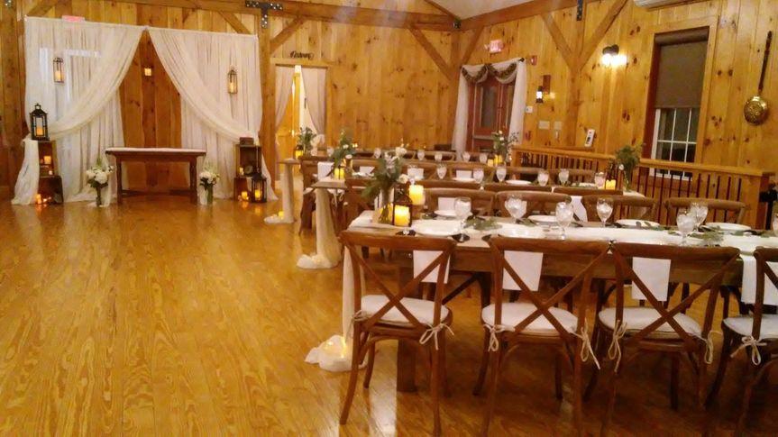 Indoor romantic reception