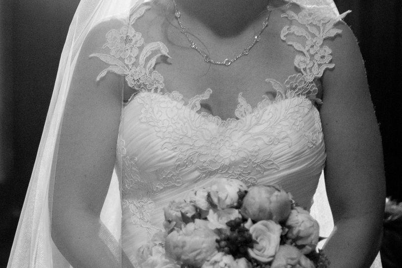 Flowery lace dress