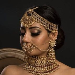 Accessories adorning the bride