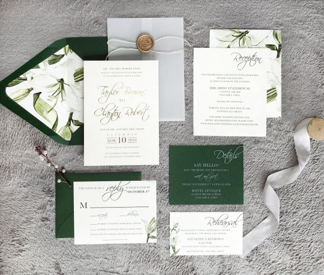 Green Floral Wedding Suite