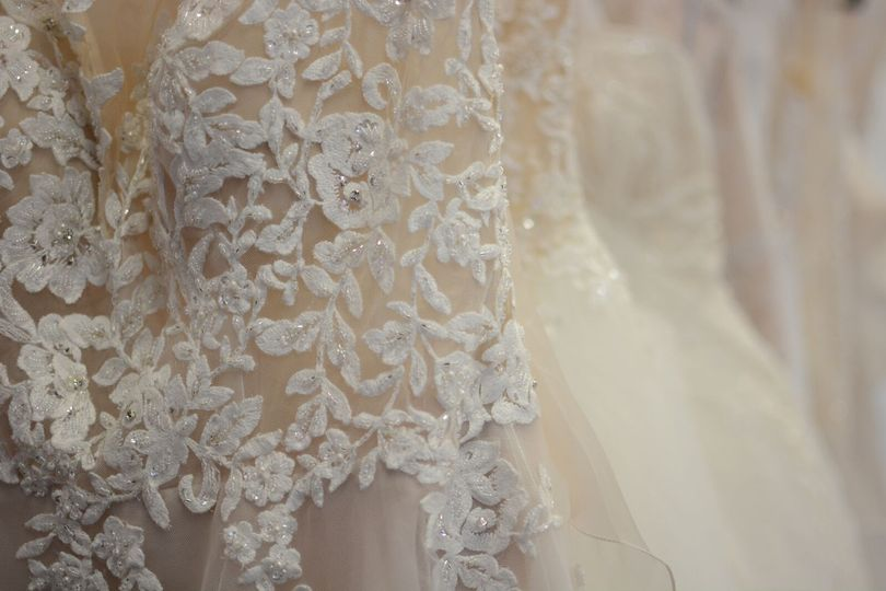 Close up of lace detail