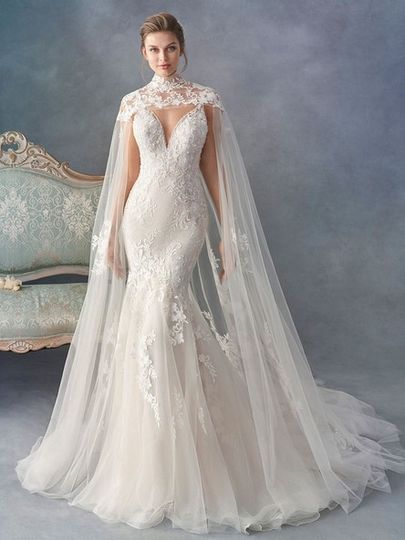 Kenneth Winston gown with cape